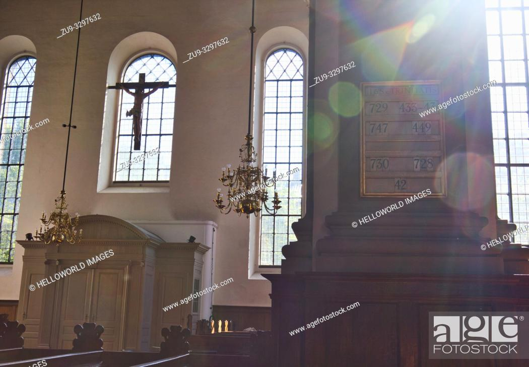 Stock Photo: Interior of Church of our Saviour (Vor Frelsers Kirke), Christianshavn, Copenhagen, Denmark, Scandinavia. Baroque church completed in 1695.