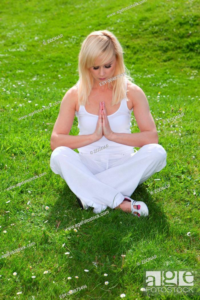 Stock Photo: yoga girl.