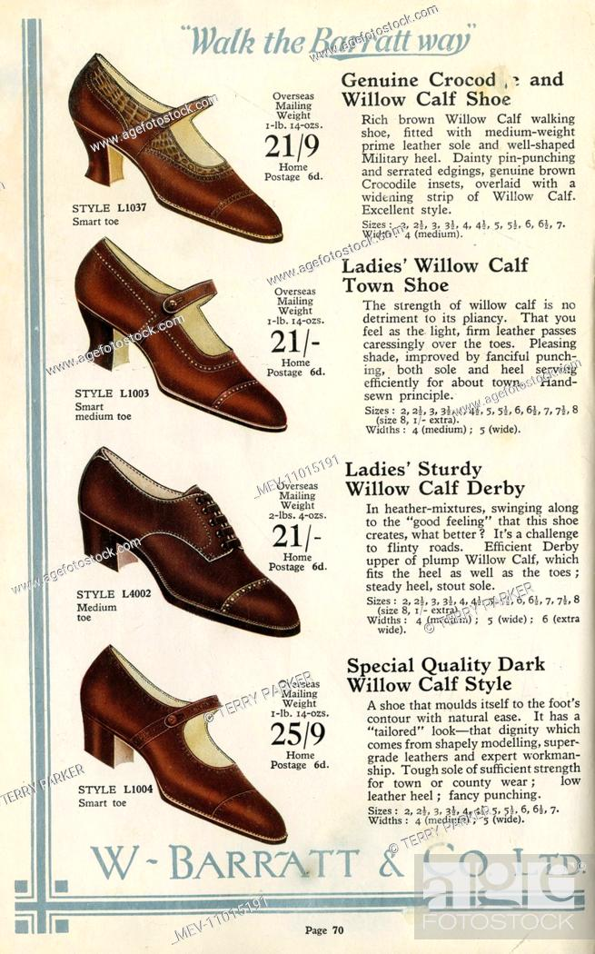 61b80f352aac1 W Barratt & Co Ltd shoe catalogue, shoes, Stock Photo, Picture And ...