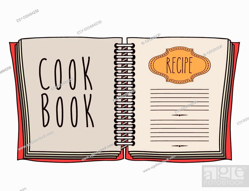 Stock Vector: Cook icon design over white background, vector illustration.