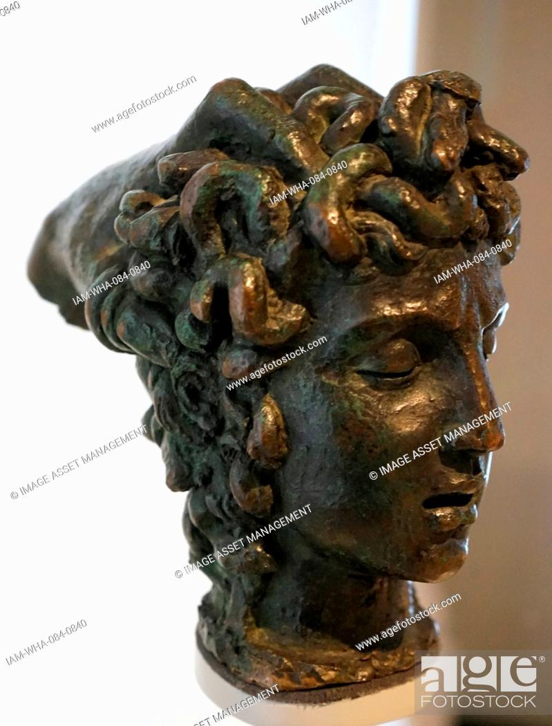 Stock Photo: Bronze head of Medusa by Benvenuto Cellini (1500-1671) an Italian goldsmith, sculptor, draftsman, soldier, musician, and artist. Dated 16th Century.