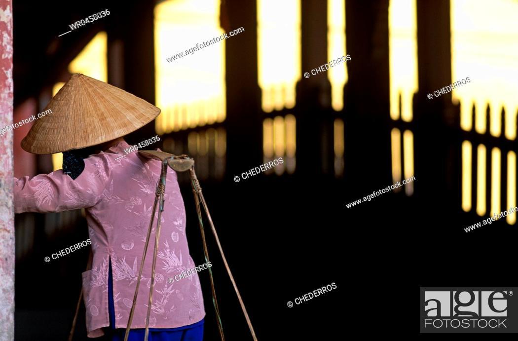 Stock Photo: Vietnam Hoi An Japanese bridge.