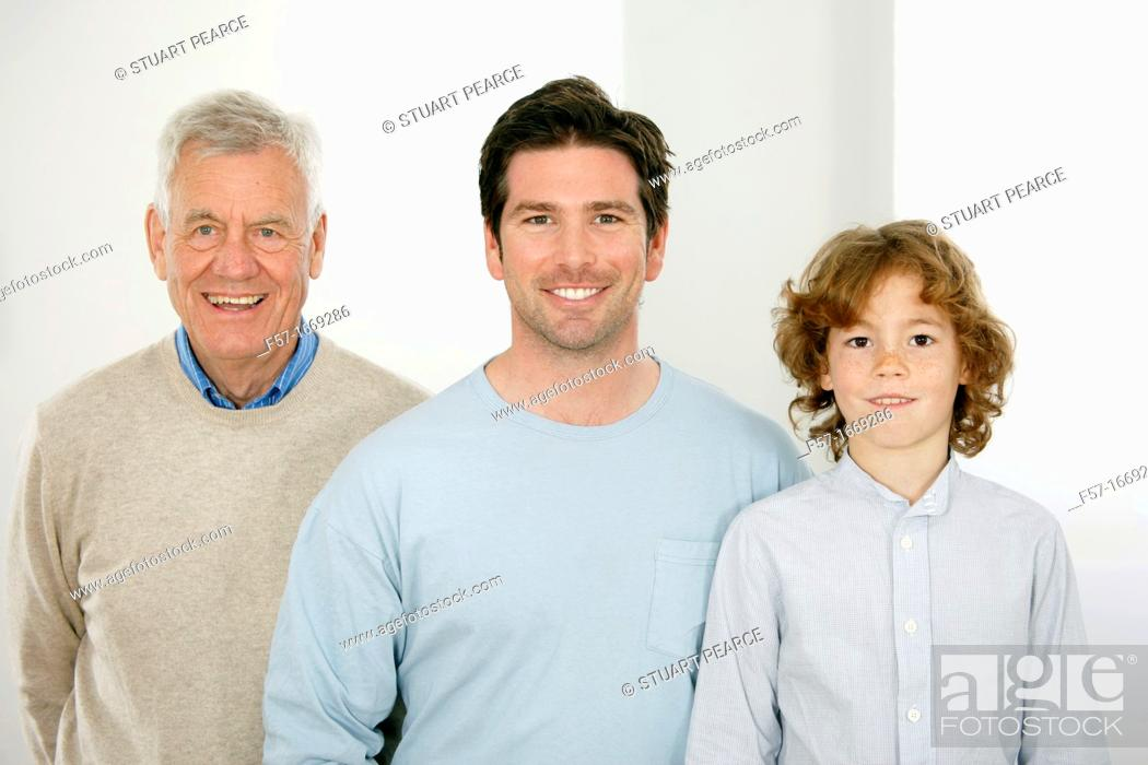 Stock Photo: Three generations.