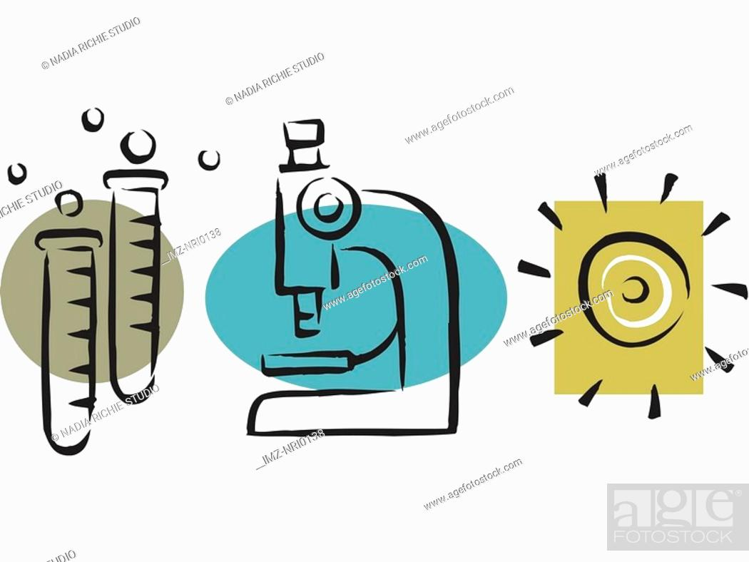 Stock Photo: An illustration of instruments in a research lab.