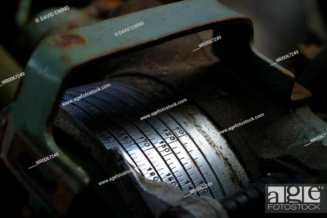 Stock Photo: Metallic gages.