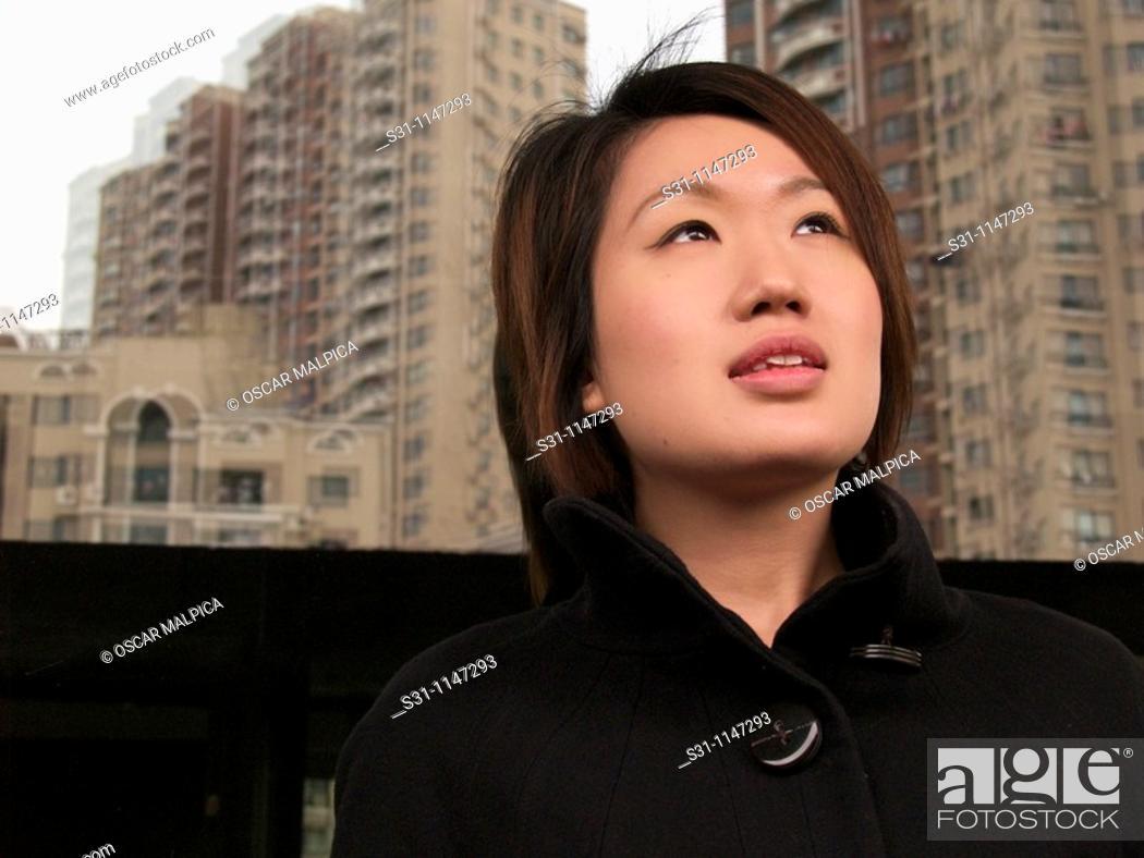 Stock Photo: young woman posing.