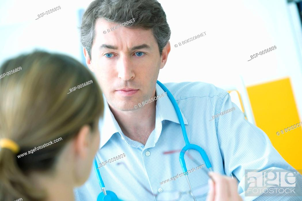Stock Photo: DOCTOR'S OFFICE Models.