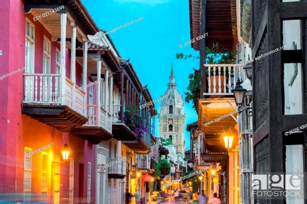 Stock Photo: Cartagena Street View.