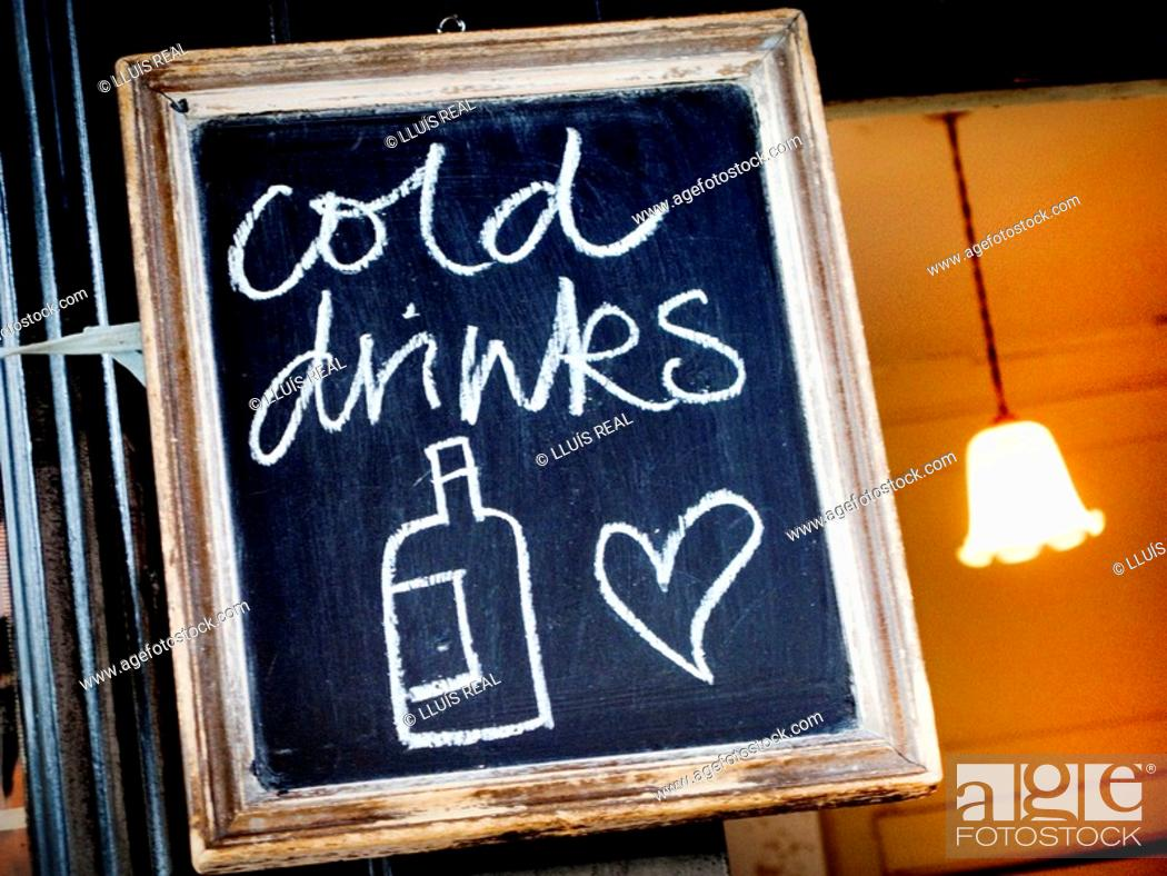 Stock Photo: Cold drinks.