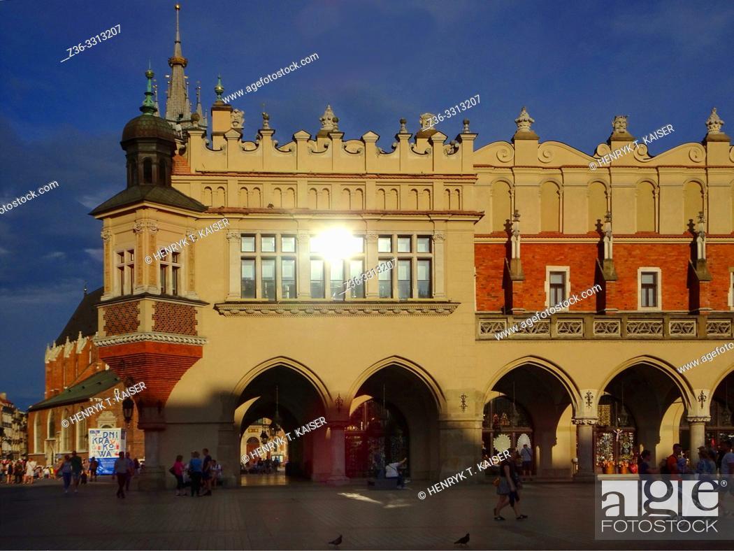 Stock Photo: Cloth Market in Krakow, Poland.