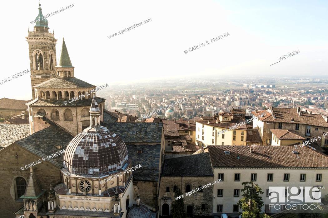 Stock Photo: Basilica di Santa Maria Maggiore Bergamo Alta, Italy.
