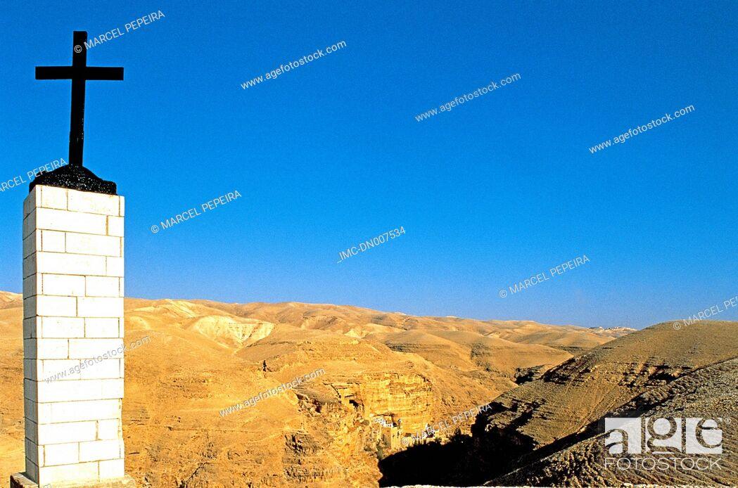 Stock Photo: Israel, Judean desert, Chobiza, Saint George monastery.