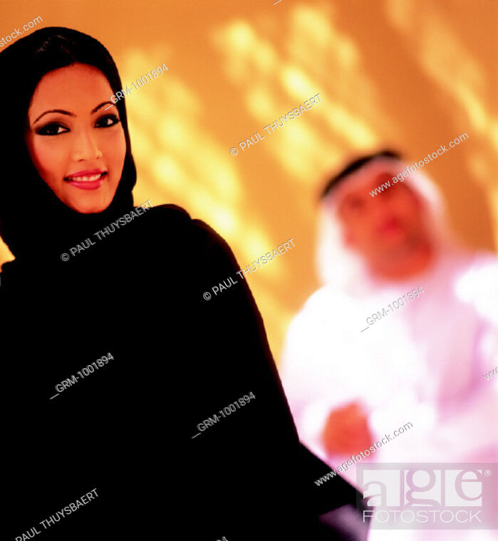 Stock Photo: Smiling Arab woman.