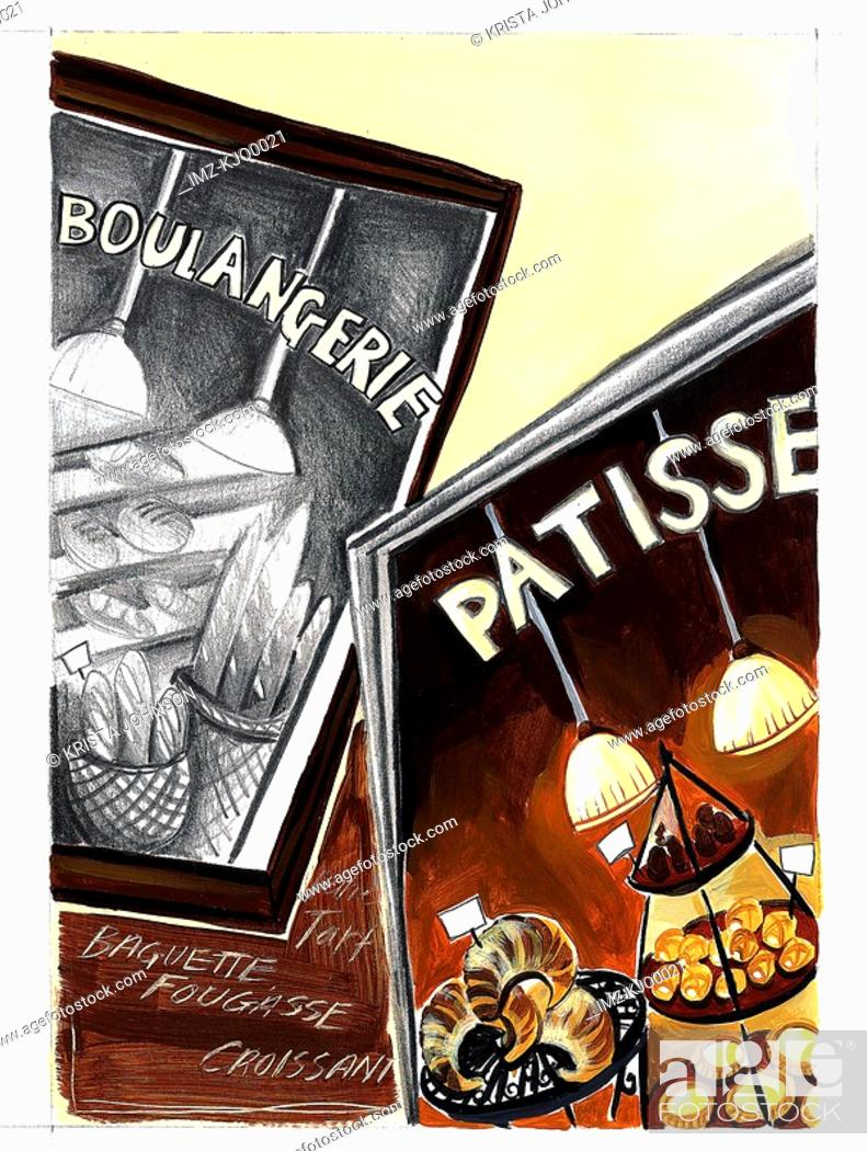 Stock Photo: An illustration of posters featuring patisserie.