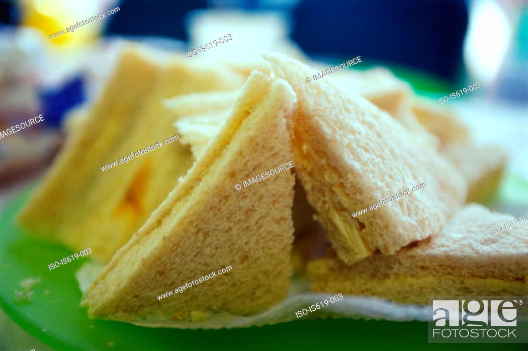Stock Photo: Plate of sandwiches.