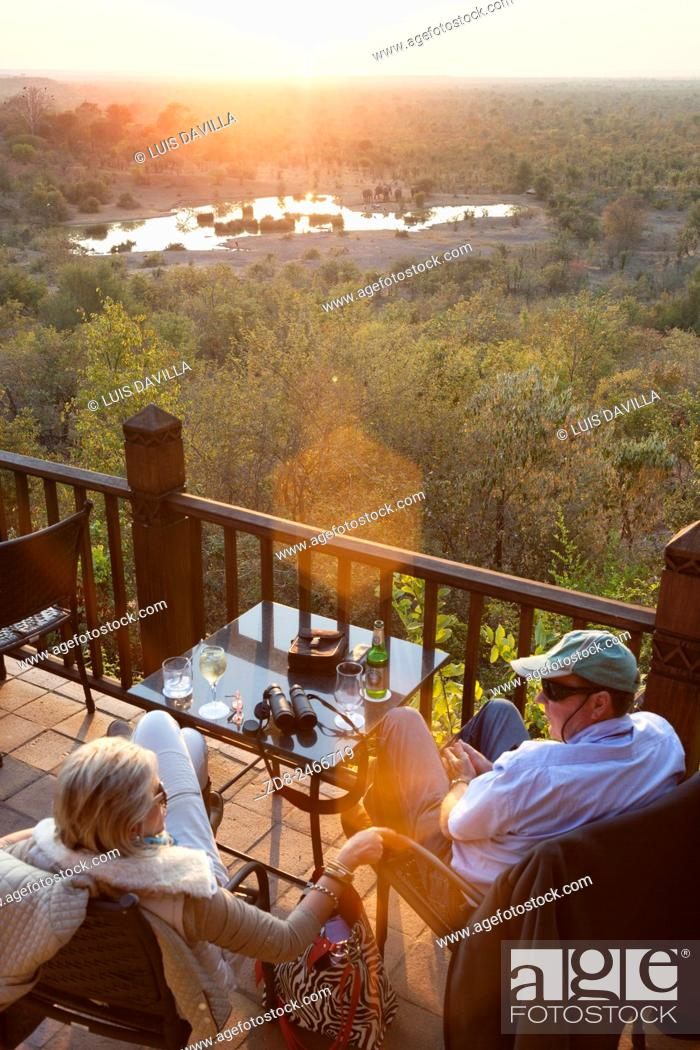 Stock Photo: zambezi nature sanctuary from victoria falls safari lodge.