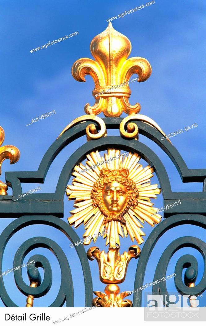 Stock Photo: Palace of Versailles - Detail Grille.