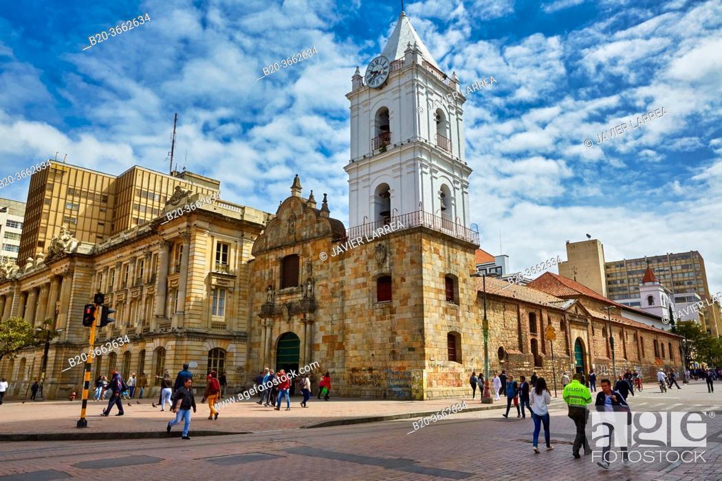 Stock Photo: San Francisco Church, Bogota, Cundinamarca, Colombia, South America.