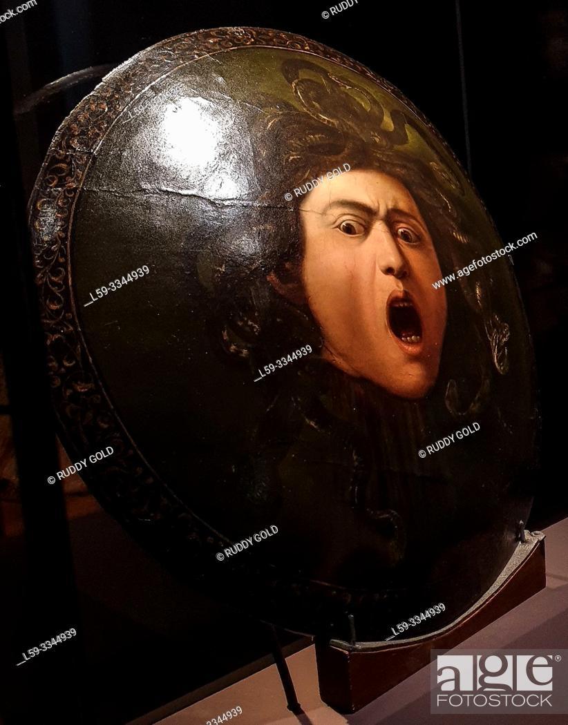 Imagen: 'Medusa, called Medusa Murtola', 1597, Michelangelo Merisi, Gen. Caravaggio (1571-1610).