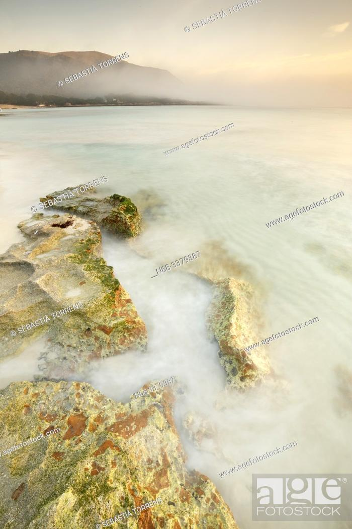 Stock Photo: Rocks at Cala Agulla, Capdepera, Majorca, Spain.