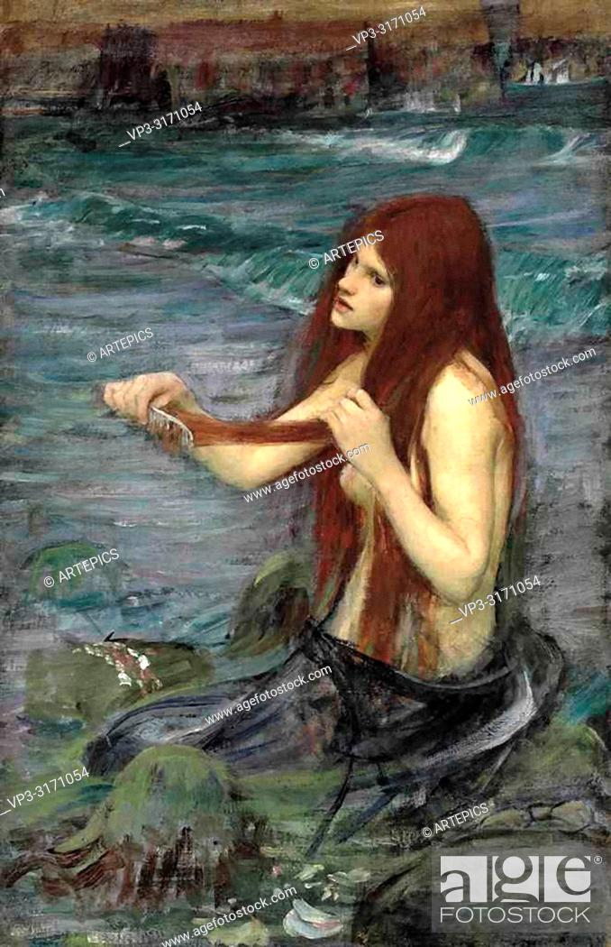 Imagen: Waterhouse John William - a Mermaid 1 3 (Study).