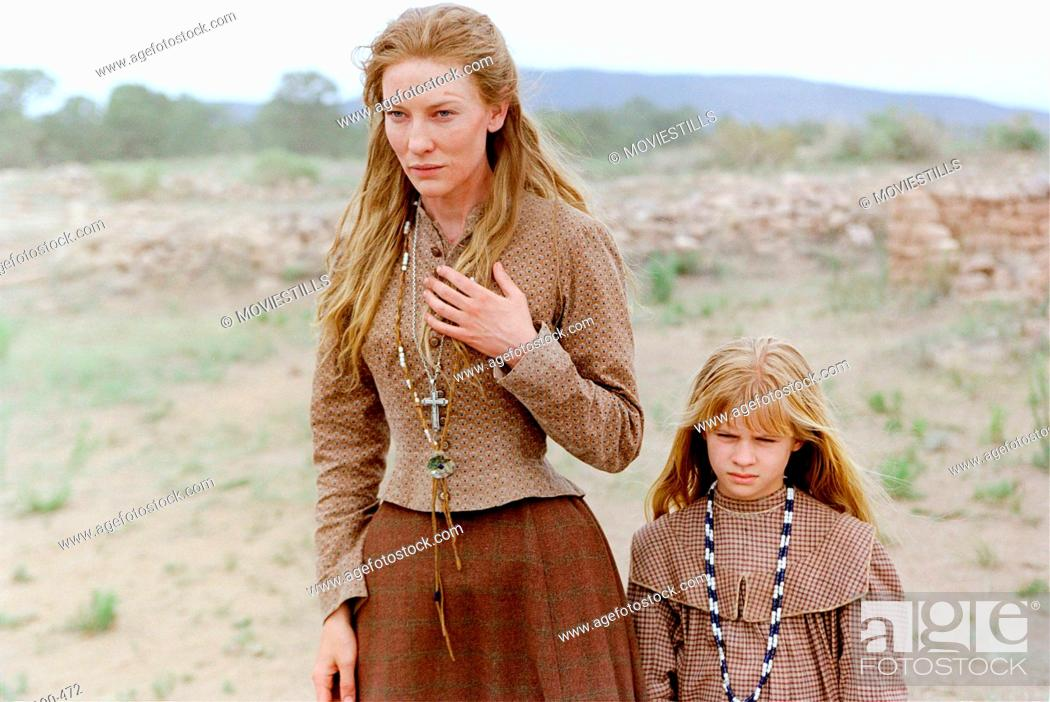 Stock Photo: Nov 26, 2003; Santa Fe, NM, USA; CATE BLANCHETT and JENNA BOYD star as Maggie Gilkeson and Dot Gilkeson in the thrilling western drama 'The Missing' directed by.