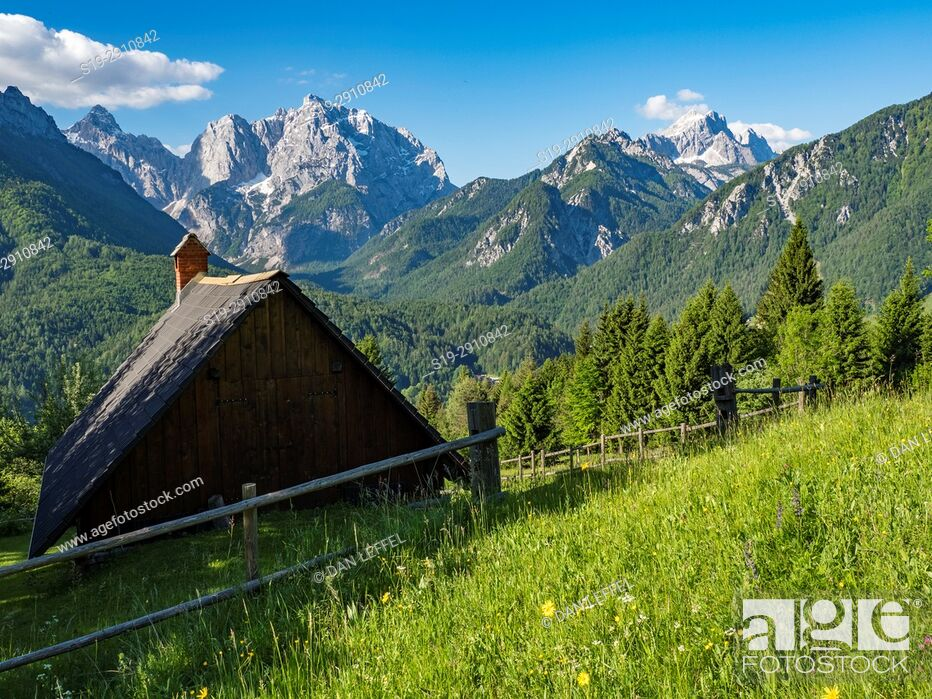 Stock Photo: Landscape. Julian Alps. Slovenia.