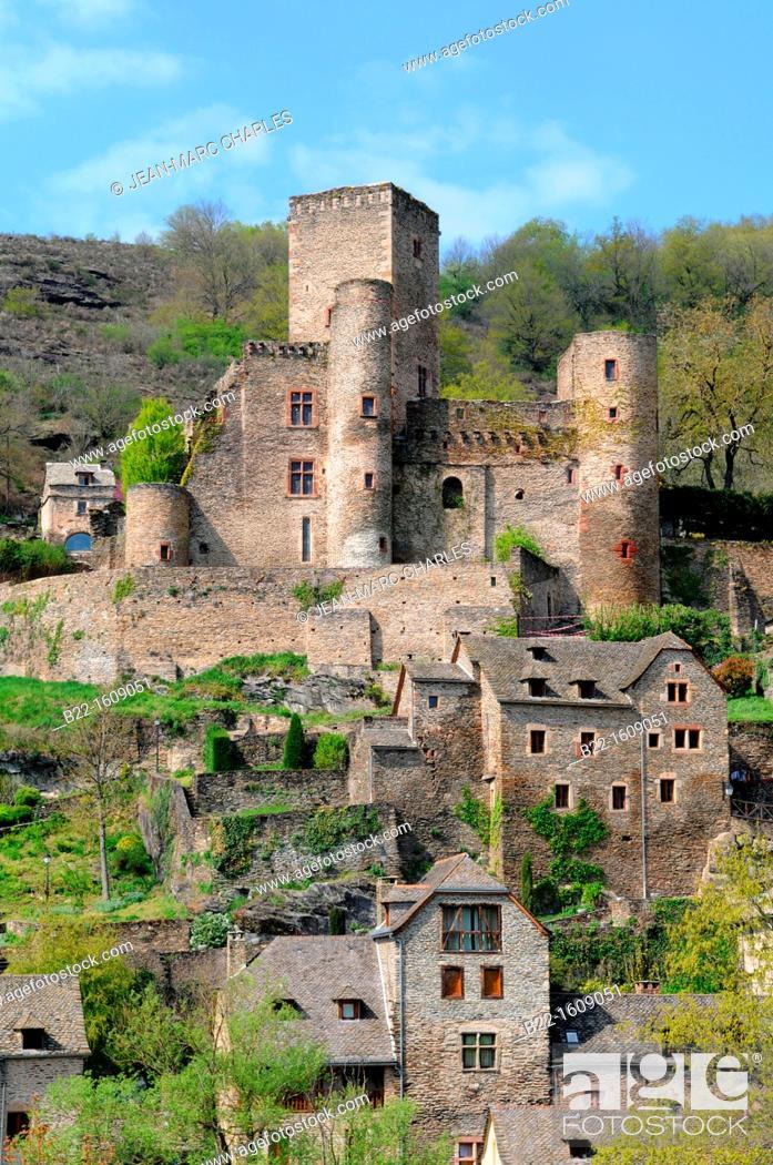 Stock Photo: Belcastel, Aveyron, Midi-Pyrénées, France.