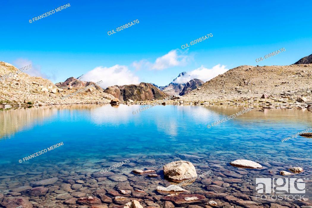 Stock Photo: Mountain range, Davos, Graub³nden, Switzerland.