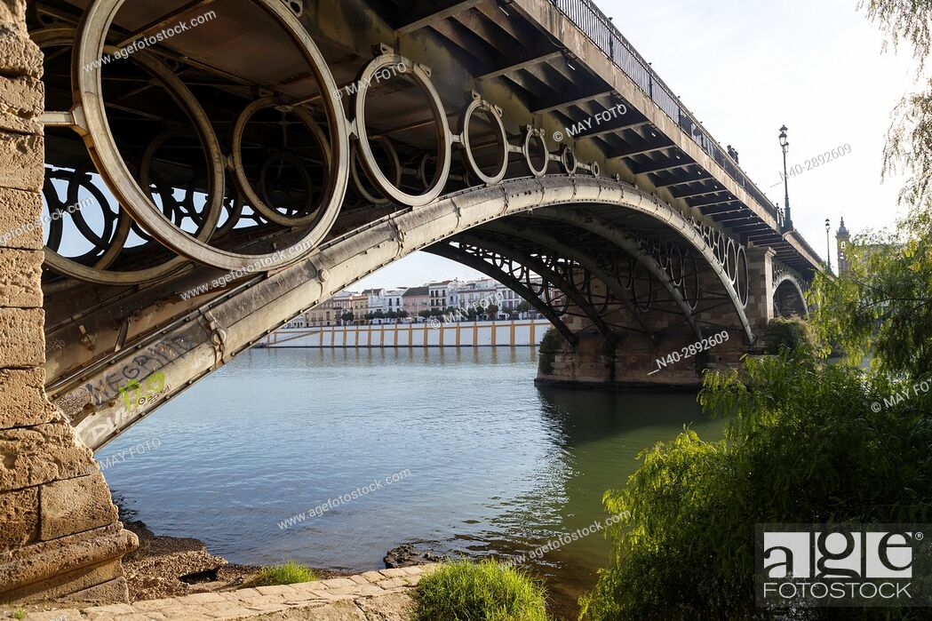 Stock Photo: Sevilla, Triana bridge, Spain.