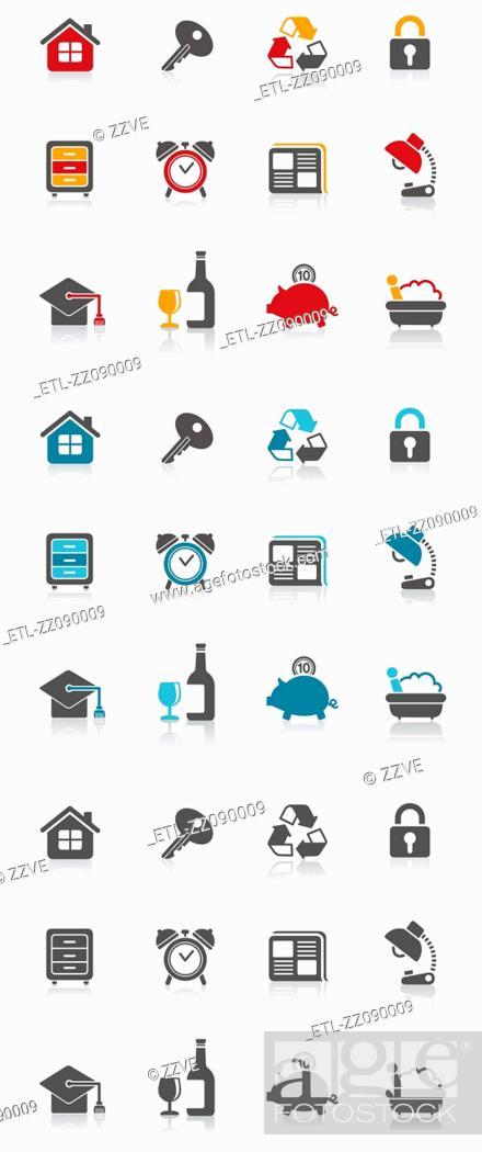 Stock Photo: icon symbol set.
