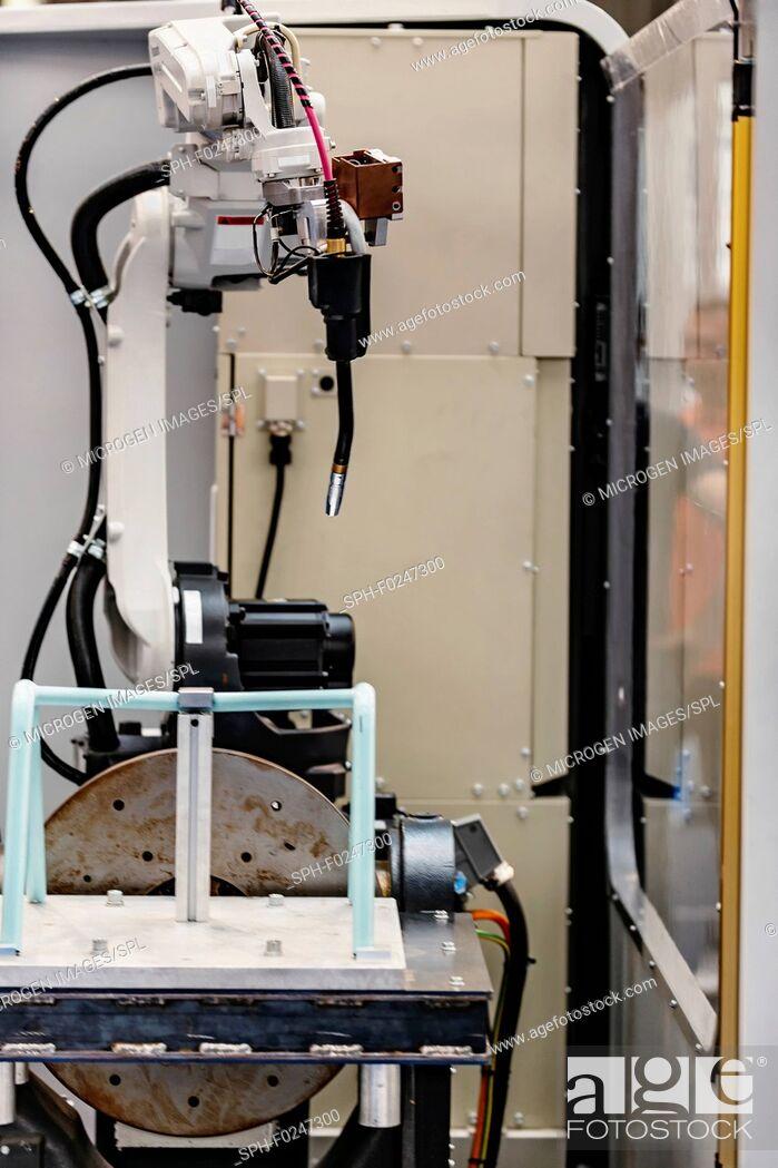 Stock Photo: Robotic welding system.