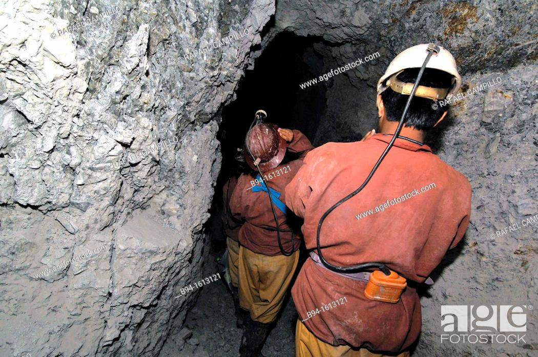 Stock Photo: Silver mines in Potosí, city and the capital of the department of Potosí in Bolivia. It is one of the highest cities in the world by elevation at a nominal 4.