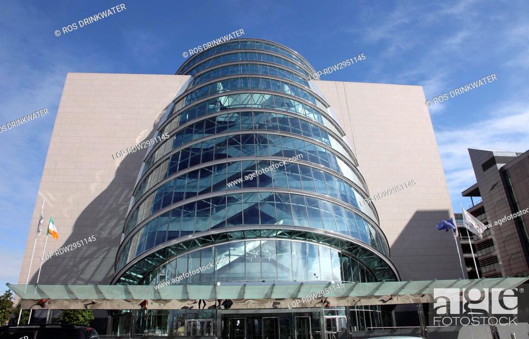 Stock Photo: Republic of Ireland, Dublin City, Dublin. The Convention Centre Dublin The CCD, designed by Irish American architect Kevin Roche.