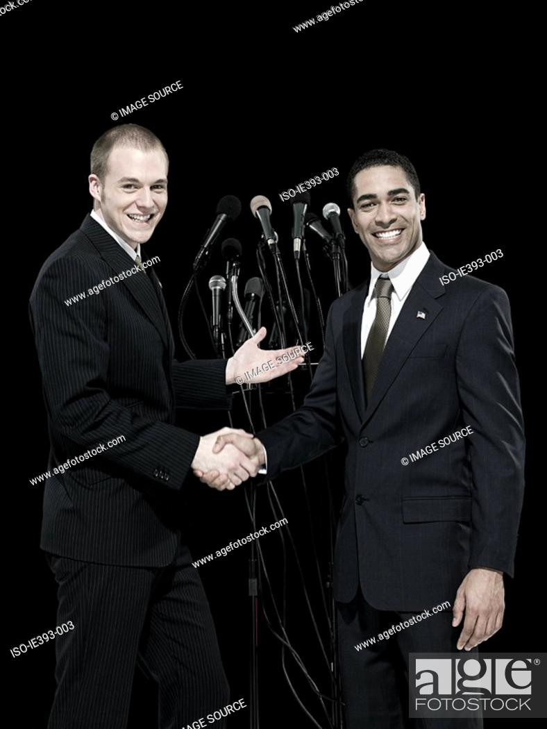 Stock Photo: Politicians shaking hands.