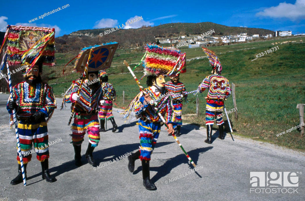 Stock Photo: Carnival. Vilariño de Conso. Orense province. Spain.
