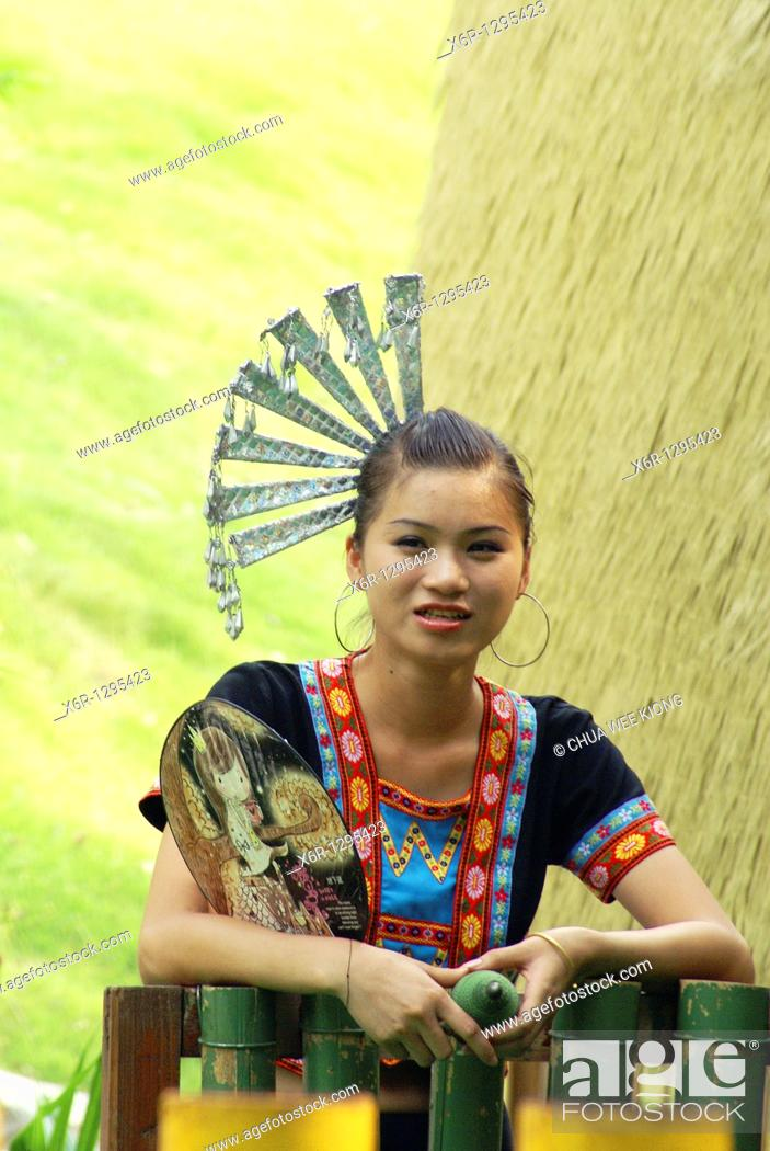 Stock Photo: China Folk Culture Village, Shenzhen, China.