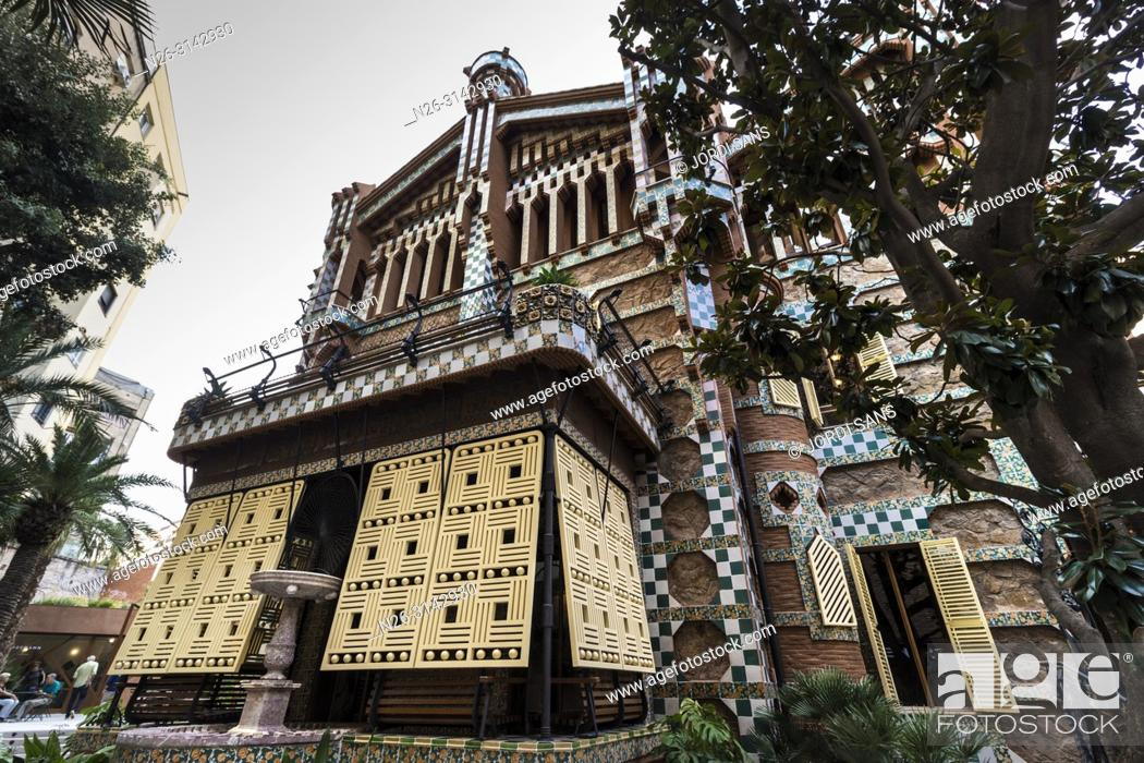 Stock Photo: Casa Vicens, 1885, by Antoni Gaudí. Barcelona.