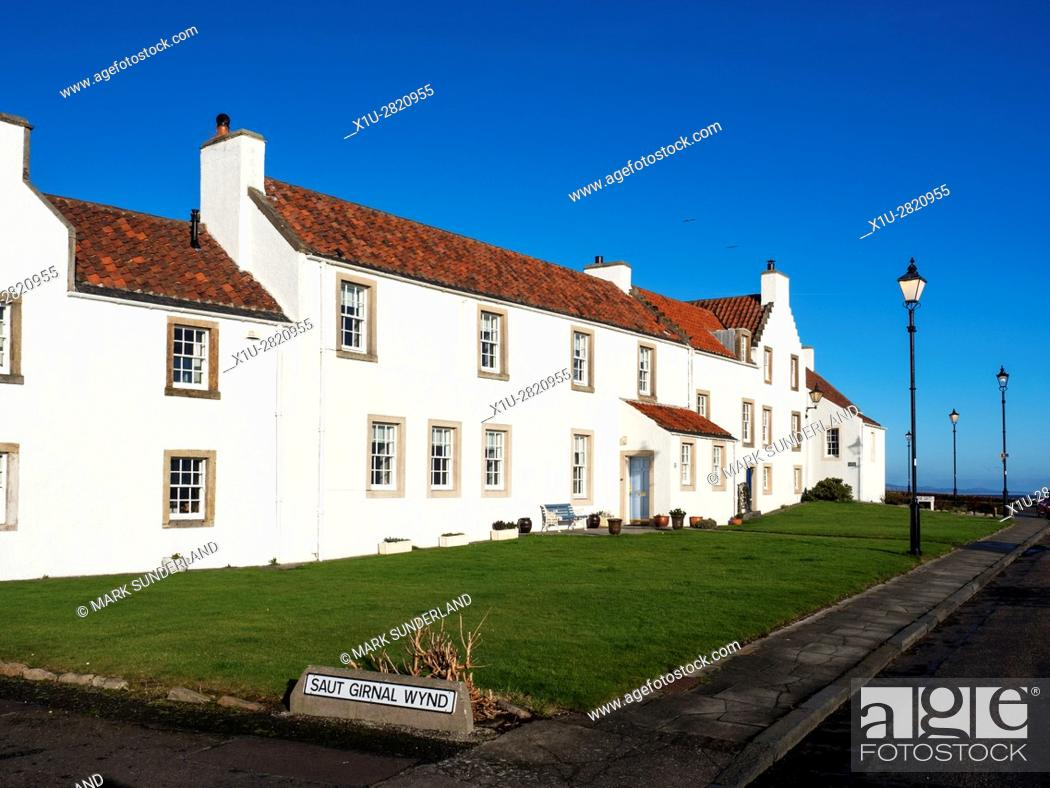 Stock Photo: Dutch Influenced White Houses on Pan Ha in Dysart Fife Scotland.