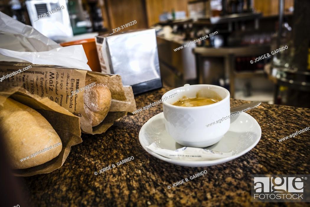 Stock Photo: Coffee shop in Taramundi, Asturias, Spain.