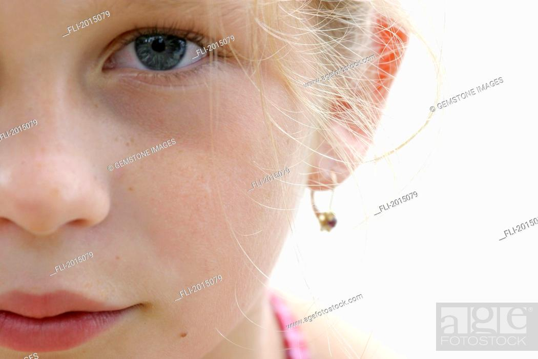 Stock Photo: Close Up Of Girls Face.