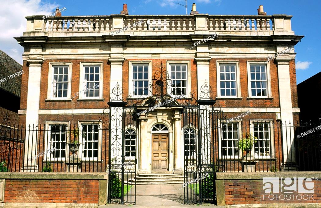 Stock Photo: Fydell House, home of Thomas Fydell, in the centre of the Lincolnshire town of Boston, England, UK.