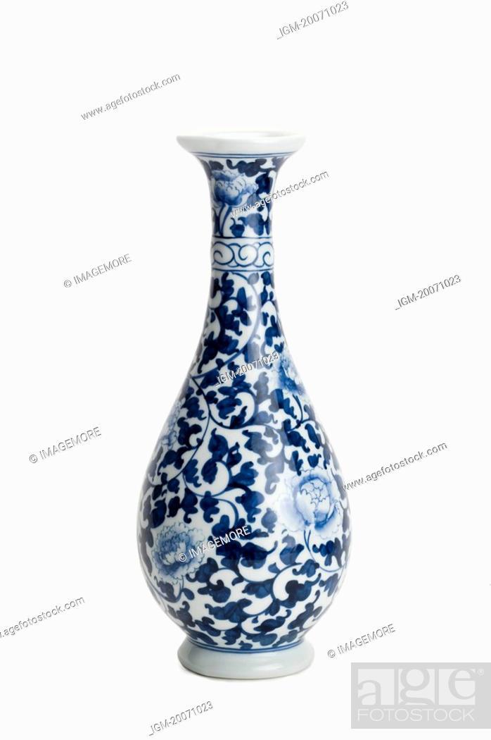 Stock Photo: Vase, Blue-and-White Porcelain.