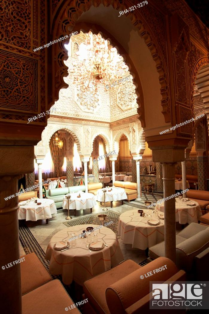 Interior View Of Moroccan Restaurant La Mamounia Hotel Marrakech Morocco North Africa Stock Photo Picture And Rights Managed Image Pic Rha 321 3279 Agefotostock