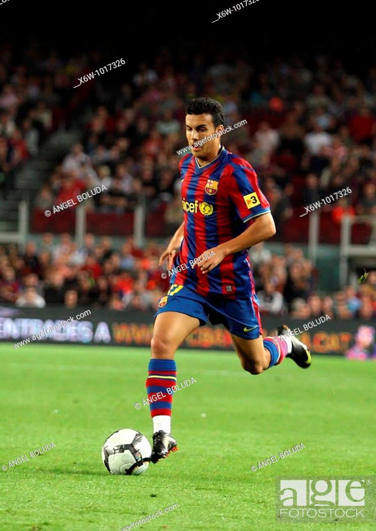 Stock Photo: Pedro Rodríguez 'Pedrito', Spanish footballer, FC Barcelona, 20009.