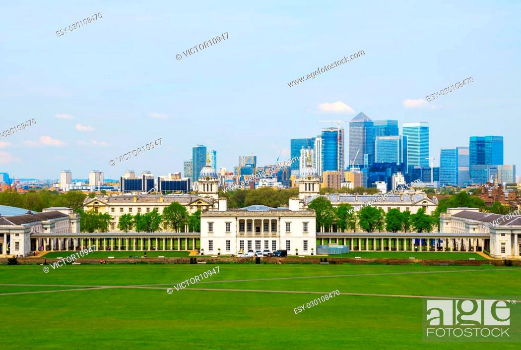 Imagen: Cityscape view from Greenwich hill of London, England, UK.