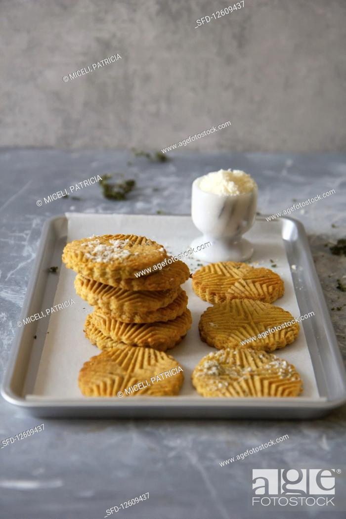 Stock Photo: Parmesan cookies.