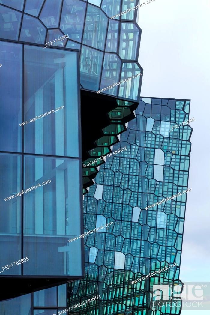 Stock Photo: Harpa concert hall and conference centre in Reykjavík, Iceland, Europe.