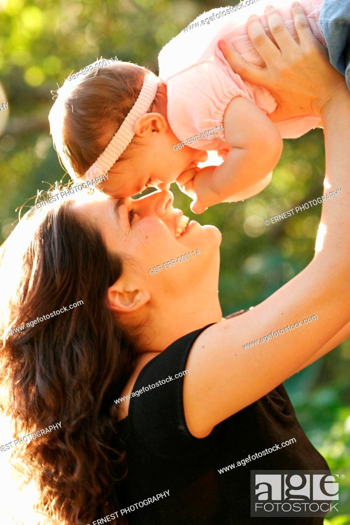 Stock Photo: People, mother, baby, 6 months.