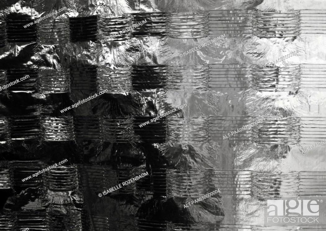 Stock Photo: Metallic surface, extreme close-up.